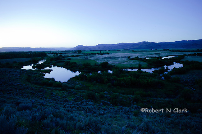 Silver Creek Preserve near sunset