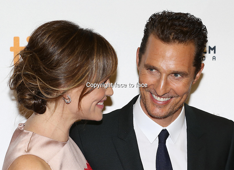 Jennifer Garner and Matthew McConaughey attending the 2013 Tiff Film Festival Red Carpet Gala for &quot;Dallas Buyers Club&quot; at The Princess of Wales Theatre on September 7, 2013 in Toronto, Canada.<br />