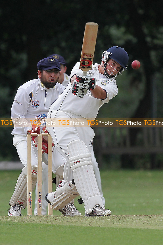 J Ellis-Grewal in batting action for Wanstead - Wanstead CC (batting) vs Ardleigh Green CC - Essex Cricket League - 06/08/11 - MANDATORY CREDIT: Gavin Ellis/TGSPHOTO - Self billing applies where appropriate - 0845 094 6026 - contact@tgsphoto.co.uk - NO UNPAID USE.