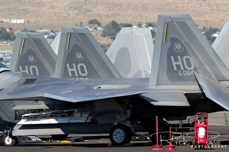 F-22 Raptors on the flight line. The F-22 Raptor first entered service in 2005 after 20 years of development. In December of 2011 the 195th, and final, F-22 Raptor rolled off the Lockheed assembly line.