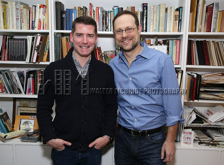 Chad Beguelin and Matthew Sklar  attends the Dramatists Guild Fund Salon with Matthew Sklar and Chad Beguelin at the home of Gretchen Cryer on December 8, 2016 in New York City.