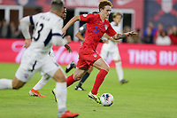 WASHINGTON, D.C. - OCTOBER 11: Josh Sargent #19 of the United States dribbles ball during their Nations League game versus Cuba at Audi Field, on October 11, 2019 in Washington D.C.