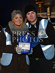 Arlene Sheridan and Jimmy Foy who slept out on West street to raise money for Drogheda Homeless Aid. Photo:Colin Bell/pressphotos.ie