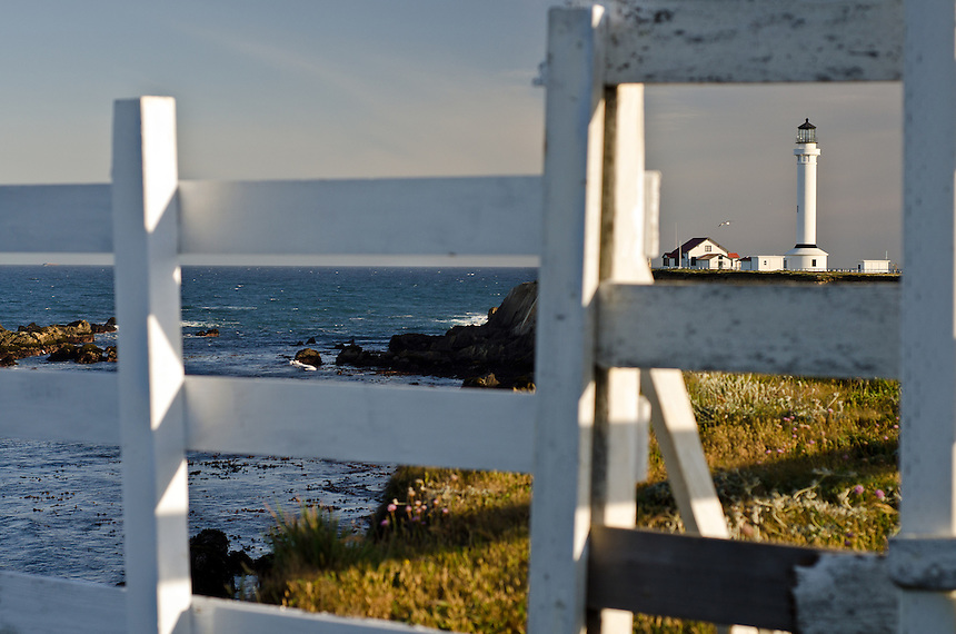 The venerable Point Arena Lighthouse now stands watch over coastal waters that are protected as part of the state's Marine Life Protection Act, on June 6, 2012. (Photo by Alvin Jornada, Special to The Chronicle)