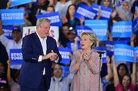 MIAMI, FL - OCTOBER 11: Democratic presidential nominee former Secretary of State Hillary Clinton (R) and former Vice President Al Gore campaign together at the Miami Dade College - Kendall Campus, Theodore Gibson Center on October 11, 2016 in Miami, Florida.  Credit: MPI10 / MediaPunch