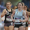 Margaret Atwood of Sachem East, left, competes in the girls 1-mile race walk event during the New Balance Indoor Nationals at The Armory in New York, NY on Saturday, March 10, 2018. She finished in second place with a time of 7:16.25.