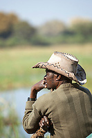Local man in Seronga, Botswana