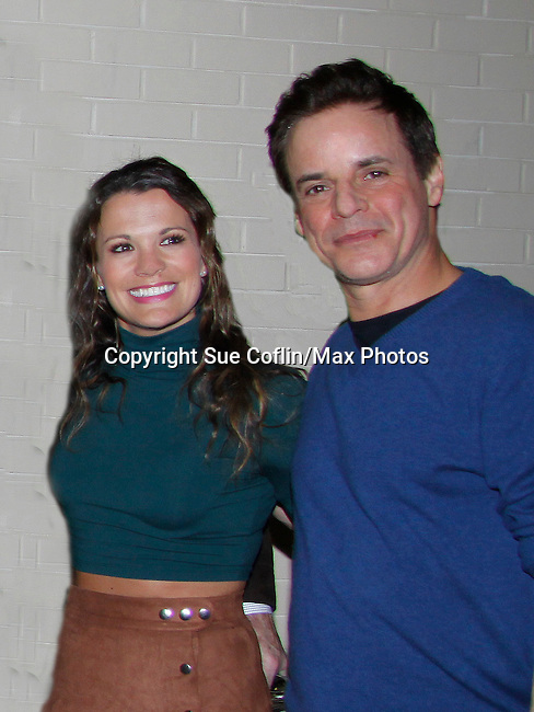 Melissa Claire Egan & Christian Jules LeBlanc - The Young and The Restless - Genoa City Live celebrating over 40 years with on February 27. 2016 at The Lyric Opera House, Baltimore, Maryland on stage with questions and answers followed with autographs and photos in the theater.  (Photo by Sue Coflin/Max Photos)