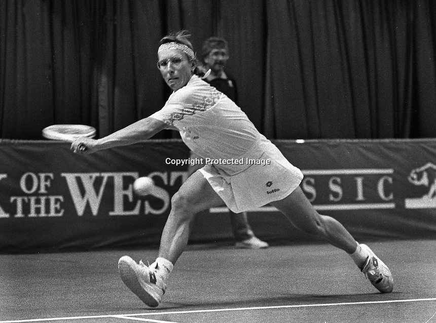 Tennis star Martina Natrolova<br /> (1992 photo/Ron Riesterer)