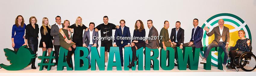 ABN AMRO World Tennis Tournament, Rotterdam, The Netherlands, 16 Februari, 2017,<br /> Management team<br /> Photo: Henk Koster