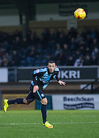 Michael Harriman of Wycombe Wanderers clears the ball during the Sky Bet League 2 match between Wycombe Wanderers and Morecambe at Adams Park, High Wycombe, England on 2 January 2016. Photo by Andy Rowland / PRiME Media Images