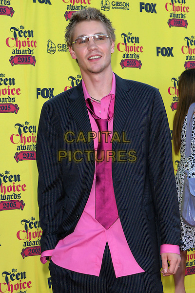 CHAD MICHAEL MURRAY.2005 Teen Choice Awards - Arrivals- held at the Gibson Amphitheatre, Universal City, CA..August 14th, 2005.Photo credit: Jacqui Wong/AdMedia.half length tinted sunglasses shades pink tie shirt pinstripe jacket.www.capitalpictures.com.sales@capitalpictures.com.© Capital Pictures.