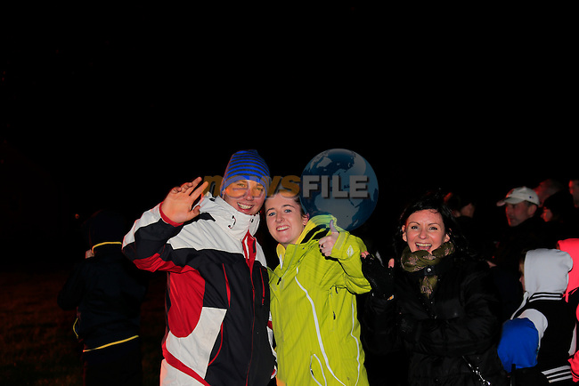 Sean Dillon, Suzanne Caffrey and Dara Callaghan<br /> holloween night around Drogheda.<br /> Picture: www.newsfile.ie
