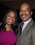 Audra McDonald & David Alan Grier.Behind the Scenes at the 2012 Tony Award-Meet The Nominees Press Reception at Millennium Broadway Hotel on May 2, 2012 in New York City. © Walter McBride/WM Photography .