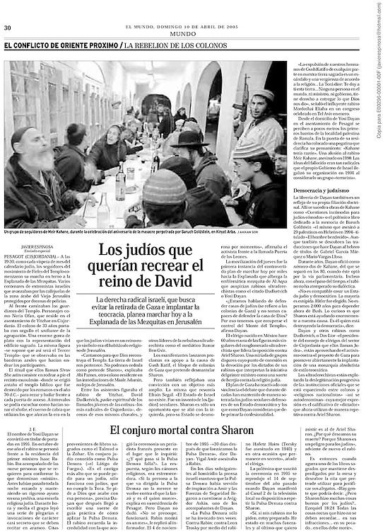 El Mundo, Spain - April 10, 2005