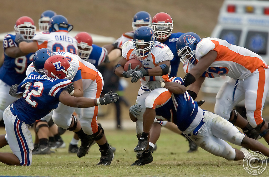Ruston, LA. Boise State vs. Louisana Tech in Joe Aillet Stadium. The Broncos defeated the Bulldogs 30-13