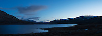 Twilight over lake Radujavri along Kungsleden trail, Lappland, Sweden