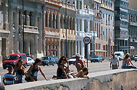 Cuba, am Malecon in Habana
