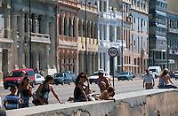Cuba, am Malecon in Habana
