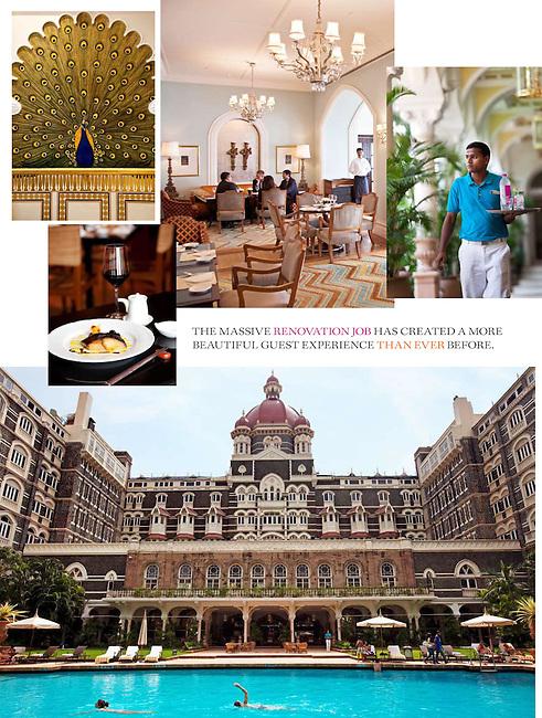 Mumbai India September 2010. Gourmet Traveller special on Mumbai and the re-opening of the Taj Mahal Palace and Tower.