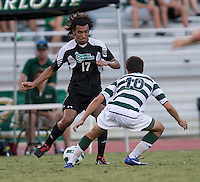 Number 8 ranked Charlotte beats number 16 ranked Coastal Carolina 1-0 on a goal by Thomas Allen in the 101st minute during the second overtime.  Mikey Lightbourne (17), Tyler Gibson (10)