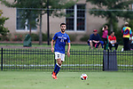 ELON, NC - SEPTEMBER 02: Presbyterian's Victor Menudier (FRA). The Elon University Phoenix hosted the Presbyterian College Blue Hose on September 2, 2017 at Rudd Field in Elon, NC in a Division I college soccer game. Elon won the game 2-0.