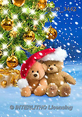 Marek, CHRISTMAS ANIMALS, WEIHNACHTEN TIERE, NAVIDAD ANIMALES, teddies, photos+++++,PLMP3462,#Xa# in snow,outsite,