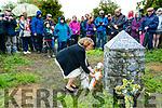 Mairead Ni Muircheartaigh lays a wreath at Tionól Mhic Easmainn, McKenna's Fort, Ardfert on Sunday