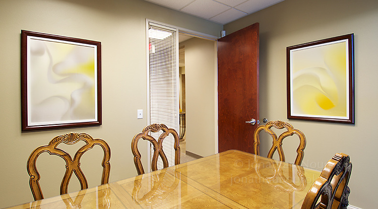 Framed photographic prints at a real estate office in Henderson, Nevada.