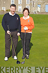 Lady Capt Helen Crowley and Capt Tim Gentleman getting ready for their tee off at Ballyheigue Golf Club on Sunady................... . ............................... ..........