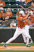 Texas 3B Erich Weiss (6) at bat against Stanford on March 4th, 2011 at UFCU Disch-Falk Field in Austin, Texas.  (Photo by Andrew Woolley / Four Seam Images)