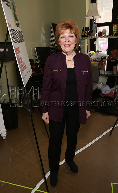 Anita Gillette attends the cast photo call for the Second Stage production of  'A Parallelogram' at the Second Stage rehearsal studios on June 29, 2017 in New York City.