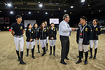JETS clinic on Main Arena with course designer Uliano Vezzani during the Longines Masters of Hong Kong 2017 on 11 February 2017 at the AsiaWorld Expo in Hong Kong, China. Photo by Marcio Rodrigo Machado / Power Sport Images