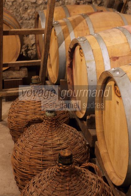 Europe/Croatie/Dalmatie/Ston: Détail cave d'un vigneron