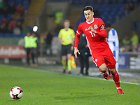 Tom Lawrence of Wales during the international friendly soccer match between Wales and Panama at Cardiff City Stadium, Cardiff, Wales, UK. Tuesday 14 November 2017.