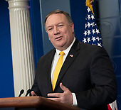 United States Secretary of State Mike Pompeo holds a news conference at the White House in Washington, DC, June 7, 2018. Credit: Chris Kleponis / CNP