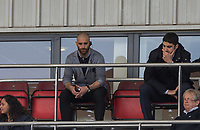 Leyton Orient Manager Omer Riza sits in the stands after being sent off during the Sky Bet League 2 match between Leyton Orient and Wycombe Wanderers at the Matchroom Stadium, London, England on 1 April 2017. Photo by Andy Rowland.