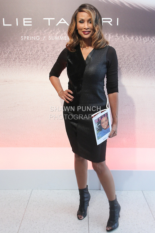 """Beverly Johnson attends the Elie Tahari Spring 2016 """"Future-Nature"""" collection, during New York Fashion Week Spring 2016."""