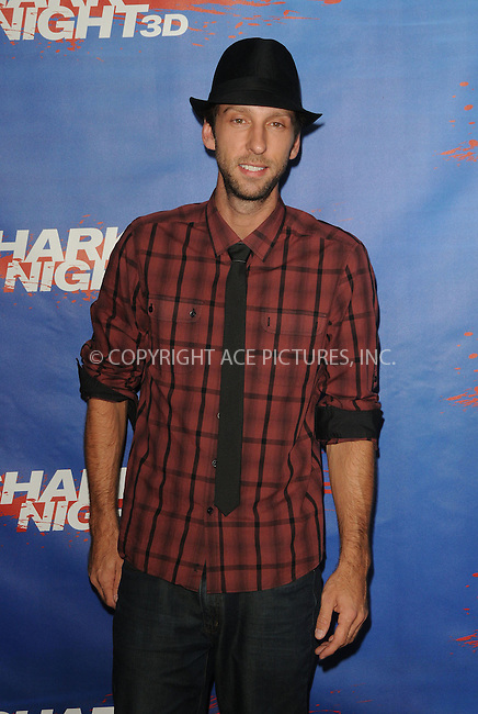 WWW.ACEPIXS.COM . . . . .  ....September 1 2011, LA....Actor Joel David Moore arriving at the screening of 'Shark Night 3D' on September 1, 2011 in Universal City, California.....Please byline: PETER WEST - ACE PICTURES.... *** ***..Ace Pictures, Inc:  ..Philip Vaughan (212) 243-8787 or (646) 679 0430..e-mail: info@acepixs.com..web: http://www.acepixs.com