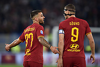 Leonardo Spinazzola of AS Roma , Edin Dzeko of AS Roma <br /> Roma 27-10-2019 Stadio Olimpico <br /> Football Serie A 2019/2020 <br /> AS Roma - AC Milan<br /> Foto Andrea Staccioli / Insidefoto