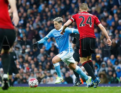 09.04.2016. The Emirates Stadium, Manchester, England. Barclays Premier League. Manchester City versus West Bromwich Albion. Manchester City midfielder Samir Nasri making start his first game in seven months, scored the decisive goal and was City's man of the match.