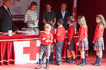 Queen Letizia of Spain attends the Cruz Roja´s (Red Cross) `Dia de la banderita´ donation table in front of Deputy Congress building in Madrid, Spain. October 08, 2014. (ALTERPHOTOS/Victor Blanco)
