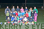 YOUNGEST: The youngest from 4 to 8 playingh in the Tralee Hurling Academy at IT North Campus on Friday night.#....
