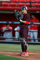 Jake Romanski #13 of the San Diego State Aztecs during a game against the New Mexico Lobos at Tony Gwynn Stadium on May 16, 2013 in San Diego, California. New Mexico defeated San Diego State, 14-6. (Larry Goren/Four Seam Images)