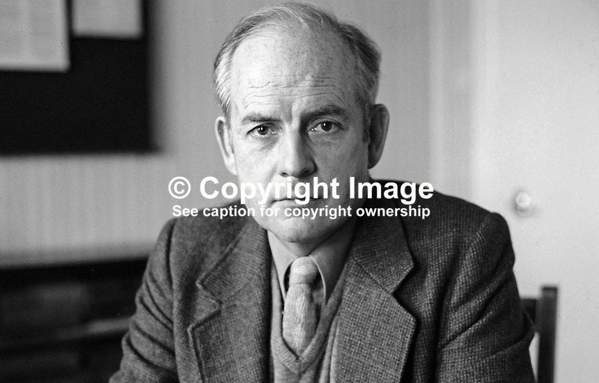 John Robb, surgeon, Route Hospital, Ballymoney, Co Antrim, N Ireland, founder of the New Ireland Group, Rep of Ireland senator for almost ten years.  19820100005JR4<br />