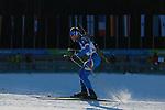 ITA Alberto Tagliati competes during the 20 km Individual Biathlon race as part of the Winter Universiade Trentino 2013 on 13/12/2013 in Lago Di Tesero, Italy.<br /> <br /> &copy; Pierre Teyssot - www.pierreteyssot.com
