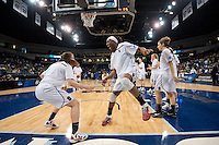 NORFOLK, VA--Senior Nneka Ogwumike gets fired up before competition against Hampton University at the Ted Constant Convocation Center at Old Dominion University in Norfolk, VA in the first round of the 2012 NCAA Championships. The Cardinal advanced with a 73-51 win to play West Virginia on Monday, March 19.