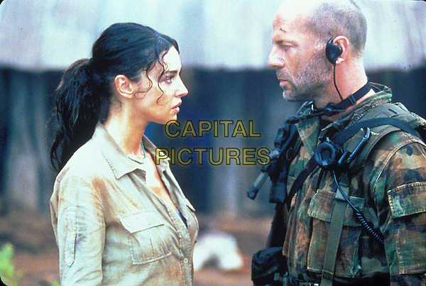 MONICA BELLUCCI & BRUCE WILLIS.in Tears Of The Sun.Film Stills - Editorial Use Only.CAP/AWFF.supplied by Capital Pictures.
