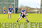 Donal Casey (ardfert) in action with Brian Curran (St Mary's) in the County League Division 3 Round 2 at Ardfert GAA Grounds on Sunday.