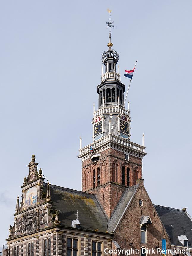 Waaggebouw am Kaasmarkt -K&auml;semarkt in Alkmaar, Provinz Nordholland, Niederlande<br /> Waaggebouw at Kaasmarkt-Cheese market  in Alkmaar, Province North Holland, Netherlands